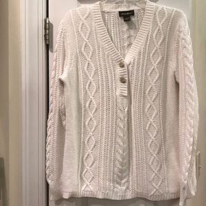 Eddie Bauer cable knit sweater. Size L